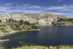 Isla del Sol Eiland van de Zon bolivië Het meer van Titicaca Zuiden A Royalty-vrije Stock Afbeelding