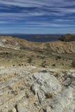 Isla del Sol Eiland van de Zon bolivië Het meer van Titicaca Zuiden A Royalty-vrije Stock Foto