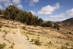 Isla del sol en el lago Titicaca, Bolivia Fotos de archivo libres de regalías