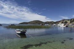 Isla Del Sol Insel des Sun bolivien Titicaca See Süda Lizenzfreies Stockfoto