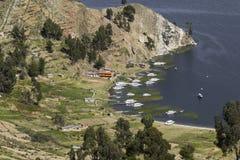 Isla Del Sol Insel des Sun bolivien Titicaca See Süda Lizenzfreie Stockfotos