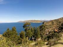 Isla del Sol (Island of the Sun). Lake Titicaca Stock Photos