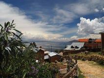 Isla del Sol, lago Titicaca, Bolívia imagens de stock royalty free