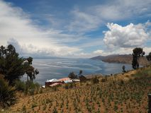 Isla del Sol, lago Titicaca, Bolívia fotografia de stock