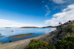 Isla del Sol, lago Titicaca, Bolivia Fotografie Stock Libere da Diritti