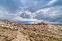 Isla del Sol, lago Titicaca, Bolivia Fotografia Stock