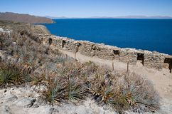 Isla del Sol , Lake Titicaca in Bolivia royalty free stock image