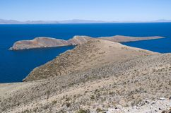 Isla del Sol , Lake Titicaca in Bolivia Royalty Free Stock Photos