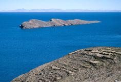 Isla del Sol , Lake Titicaca in Bolivia Stock Photography