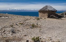 Isla del Sol , Lake Titicaca in Bolivia. Old house on Isla del Sol ,Lake Titicaca, Bolivia Royalty Free Stock Images