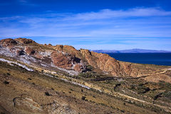 Isla del Sol in Lake Titicaca, Bolivia Stock Photos
