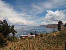 Isla del Sol, le Lac Titicaca, Bolivie photographie stock