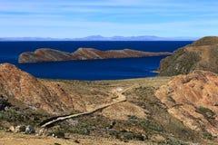Isla del Sol nel Titicaca, Bolivia Fotografie Stock Libere da Diritti