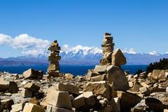 Isla del Sol no lago Titicaca, Bolívia. imagem de stock royalty free