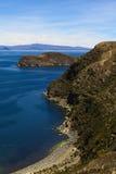 Isla del Sol no lago Titicaca, Bolívia Foto de Stock