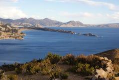 Isla del sol op Titicaca meer, Bolivië Royalty-vrije Stock Fotografie