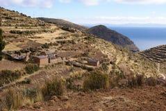 Isla del sol op Titicaca-meer, Bolivië Royalty-vrije Stock Fotografie