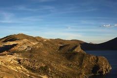 Isla del Sol på sjön Titicaca, Bolivia Arkivfoton