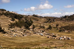 Isla del sol sul lago Titicaca, Bolivia Fotografie Stock Libere da Diritti