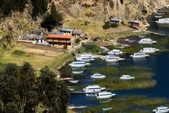 Isla del Sol sul lago Titicaca, Bolivia. Fotografie Stock Libere da Diritti