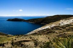 Isla del Sol sul lago Titicaca, Bolivia. Immagini Stock Libere da Diritti
