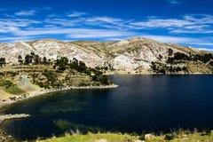 Isla del Sol sul lago Titicaca, Bolivia. Fotografia Stock Libera da Diritti