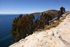 Isla del sol sur le lac Titicaca, Bolivie photographie stock