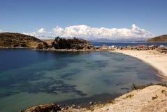 Isla del sol sur le lac Titicaca, Bolivie Images libres de droits