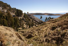 Isla del sol on Titicaca lake, Bolivia Royalty Free Stock Images