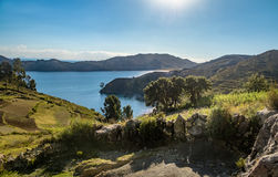 Isla del Sol on Titicaca Lake - Bolivia Royalty Free Stock Photo