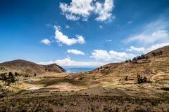 Isla del Sol, Titicaca Lake, Bolivia. Titicaca Lake in Comunidad Challa on Isla del Sol, Bolivia Royalty Free Stock Photography