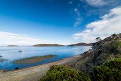 Isla del Sol, Titicaca Lake, Bolivia. Shot of the Titicaca Lake in Comunidad Challapampa on Isla del Sol, Bolivia Royalty Free Stock Photos