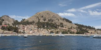 Isla del Sol, on the Titicaca lake, the largest highaltitude lake in the world 3808 mt royalty free stock image