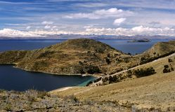 Isla Del Sol Village terraces. This image was shot on the isla del sol, lake titicaca, bolivia Royalty Free Stock Image