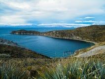 Isla del solenoid - Bolivia (ön av solen) Arkivfoton