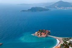 Isla del St Stephan en Montenegro foto de archivo libre de regalías