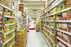 Isla del supermercado Fotos de archivo