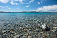 Isla del sur Nueva Zelanda de Hawea del lago Foto de archivo libre de regalías