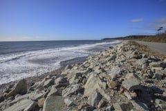 Isla del sur Nueva Zelanda de la costa oeste de la playa de la bahía de Bruce Imagen de archivo libre de regalías