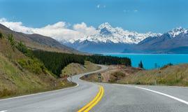 Isla del sur Nueva Zelanda de Mt.cook imagenes de archivo