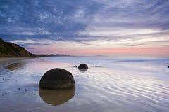 Isla del sur Nueva Zelandia de la salida del sol imagen de archivo libre de regalías