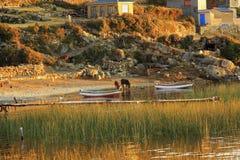 Isla Del Zol w Boliwia Ameryka Południowa zdjęcia stock