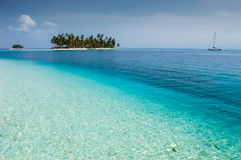 Isla Diablo in the San Blas archipelago off the Caribbean coast Royalty Free Stock Photo