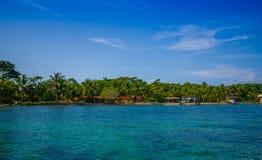 ISLA-DOPPELPUNKT, PANAMA - 25. APRIL 2015: Doppelpunkt-Insel Stockbild