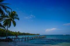 ISLA-DOPPELPUNKT, PANAMA - 25. APRIL 2015: Doppelpunkt-Insel Lizenzfreie Stockfotos