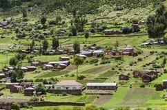 Isla el lago Titicaca de Taquile Fotos de archivo