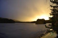 Isla en el lago Imagen de archivo libre de regalías