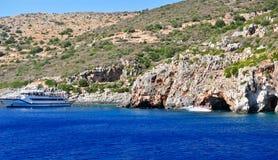 Isla en el mar jónico, Zakynthos Foto de archivo libre de regalías