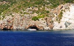 Isla en el mar jónico, Zakynthos Imagen de archivo libre de regalías