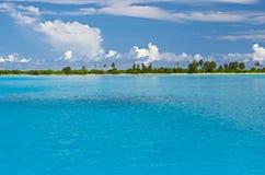 Isla en el Océano Índico Imagenes de archivo
